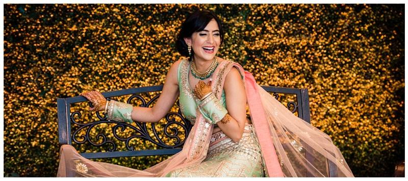Ramit & Sumiti New York : Gorgeous lehengas, minimal makeup and a killer smile make this bride's wedding photos a must-see!