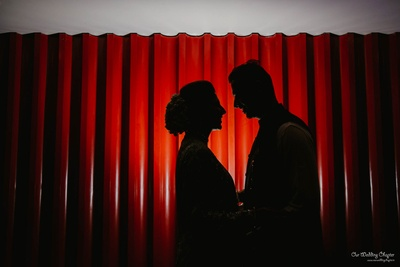 This silhouette says so much about the couple