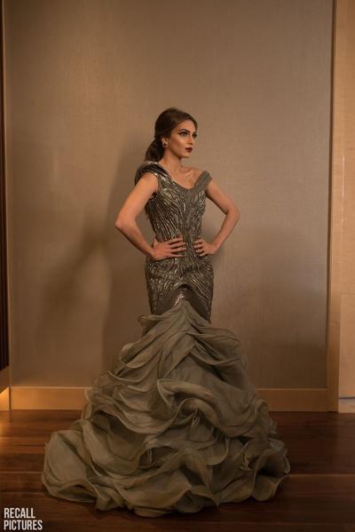 The bride in a splendid Gaurav Gupta gown