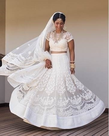 White lehengas! Inspiration from the West.