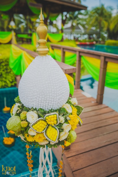 Unique wedding decoration ideas used for Rushi and Disha's wedding at Sofitel, Krabi
