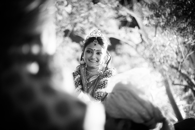 The beautiful bride captured in monochrome by The Wedding Knights
