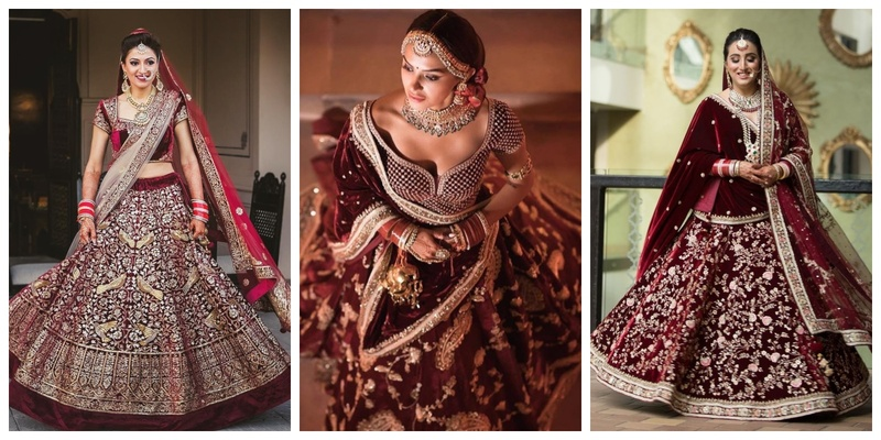 10 maroon and burgundy lehengas that are total head turners!