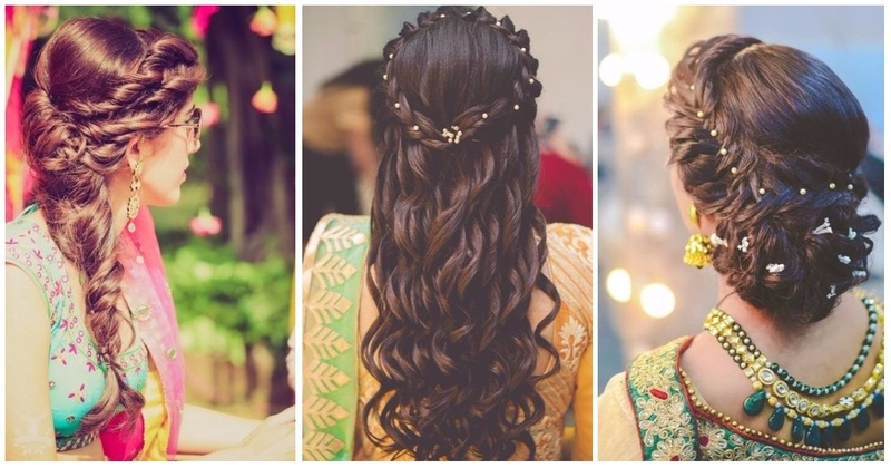Mehndi Hairstyles Review : Braided hairstyles that look ah mazing with your wedding mehndi