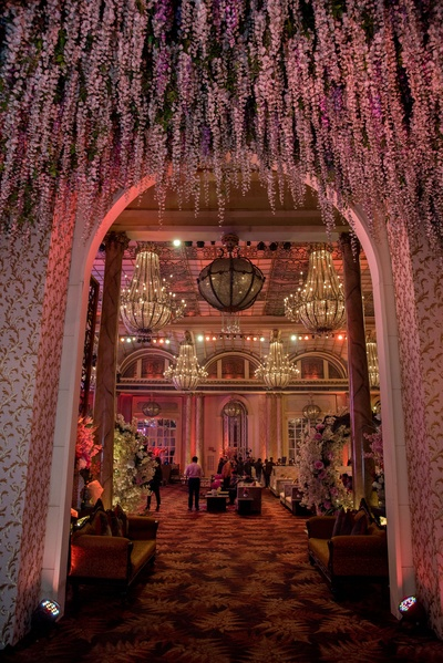 Entrance to the engagement ceremony was jaw-dropping!
