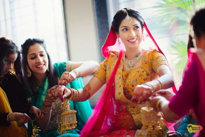 Kaleere ceremony of the bride before her wedding
