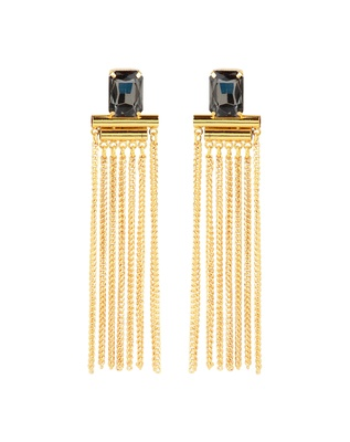 Bblingg Crystal Tassel Cocktail Earrings
