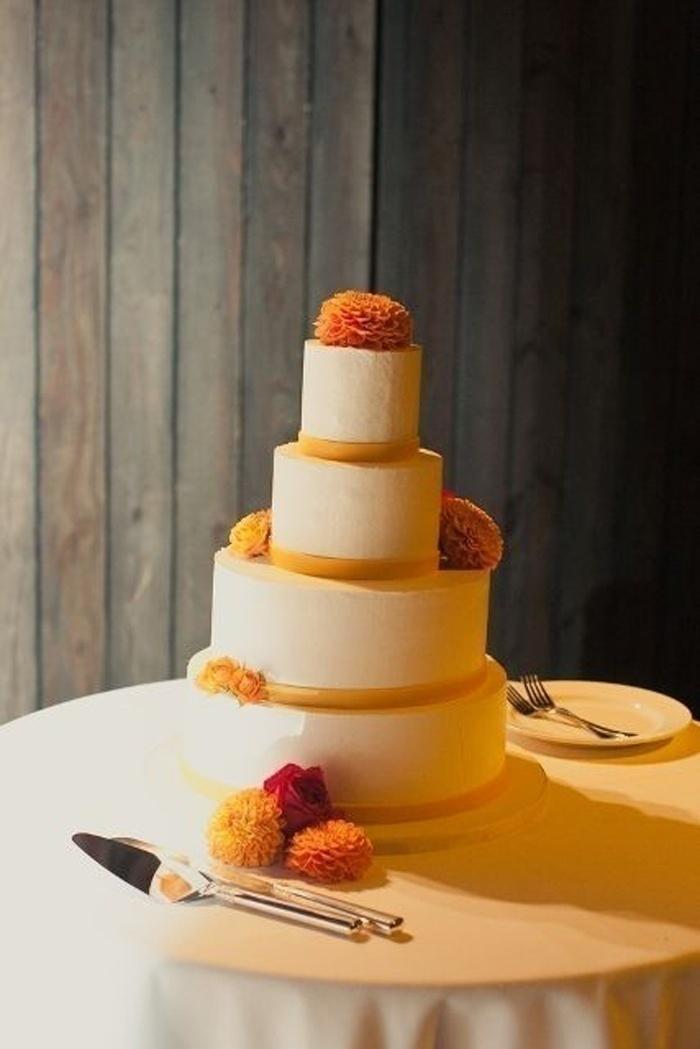Why Isolate the Cake? - Marigold Decoration for Wedding Cake