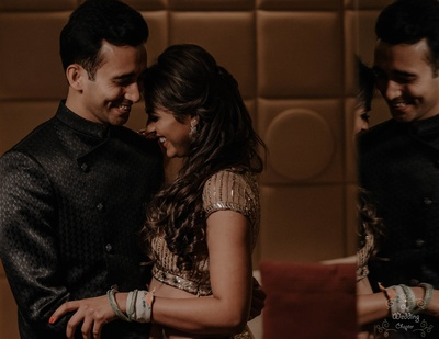 Pragya and Harsh at their Engagement ceremony.