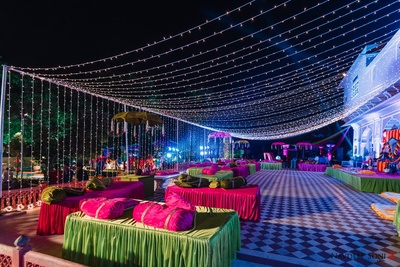 Chomu Palace decked up in preparation of the sangeet night