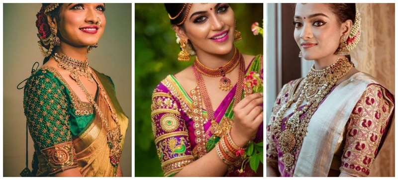30 Top Saree Blouse Designs with Maggam Work for Brides