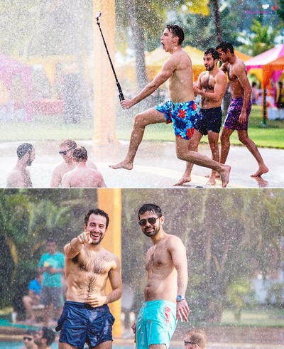 Laughter and enjoyment in a pleasing rain dance event held at The Lalit Golf and Spa Resort, Goa