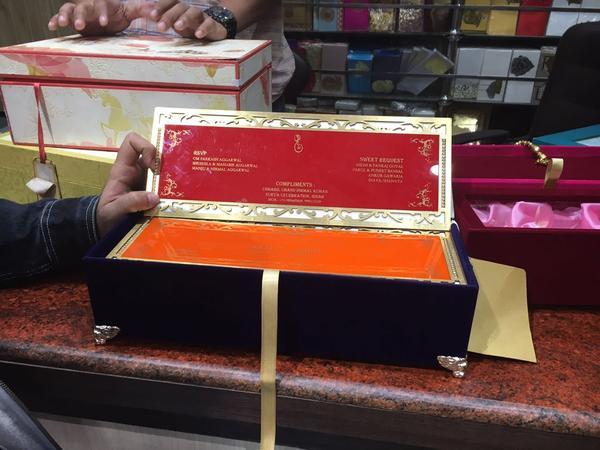 The Golden Umbrella | Delhi | Invitation Cards
