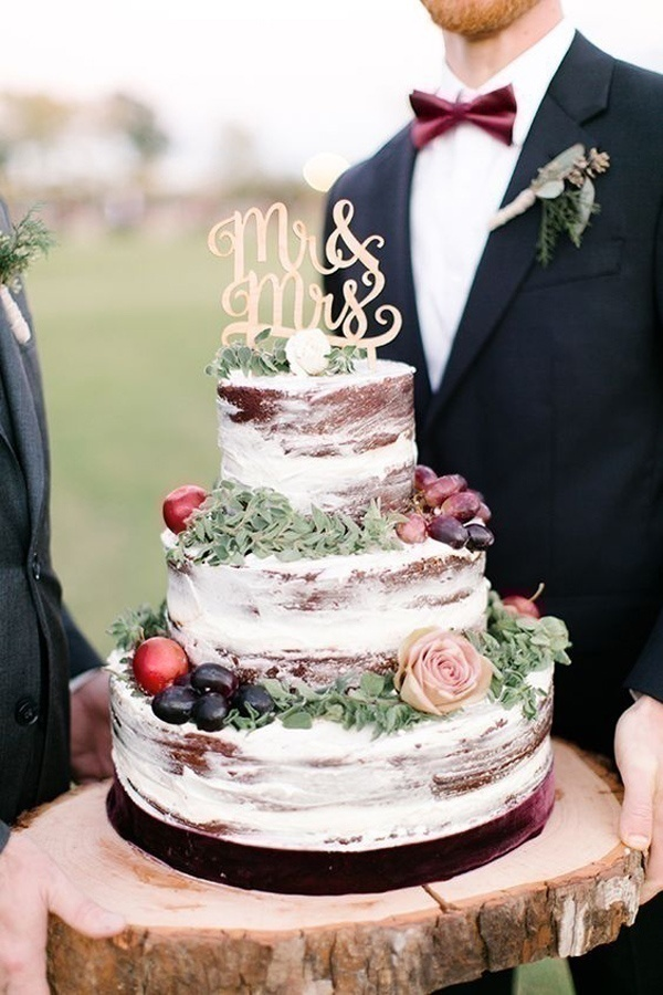 Go Bare: Naked Wedding Cakes