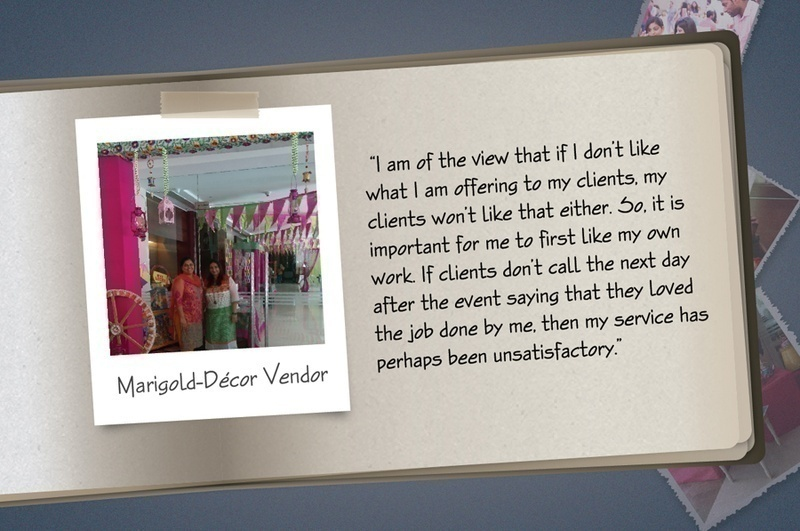 Here's a sneak-peek into a few of the vendors who made the cut and this is what they had to say: