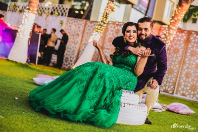 cute picture of the couple at the mehendi ceremony