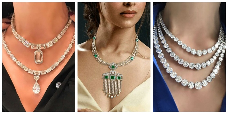 12 Gorgeous diamond necklace for your wedding reception!