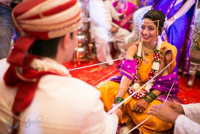 Thread ceremony performed before the Saatphera ceremony