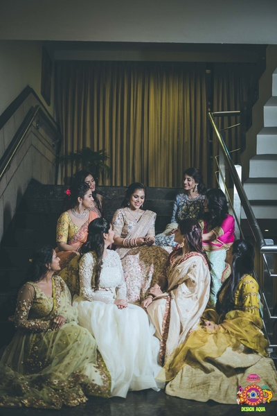 the bride with her tribe