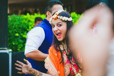 Happy and fun bride!