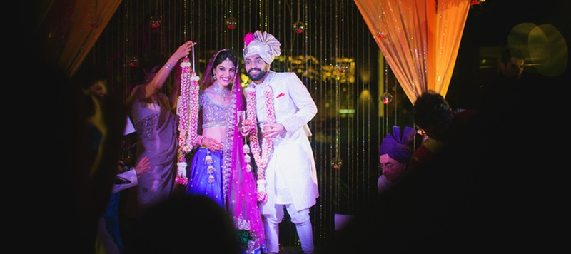 Ankur & Neha Bangalore : The couple really knew how to set the fun bar high with all their wedding games as well.