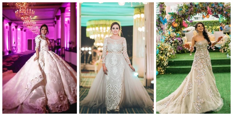 Brides who flaunted gowns with the most trending trails!
