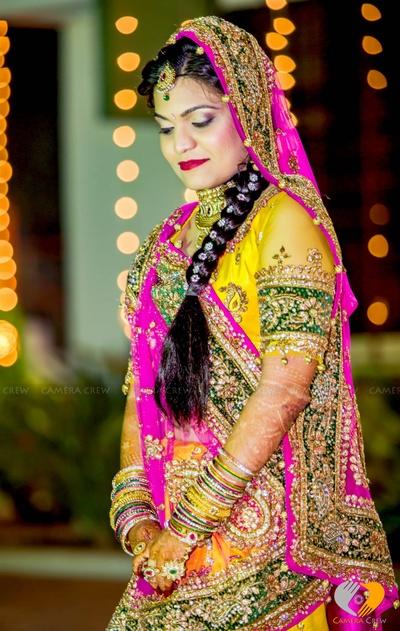 Bridal colorful lehenga ideas for weddings