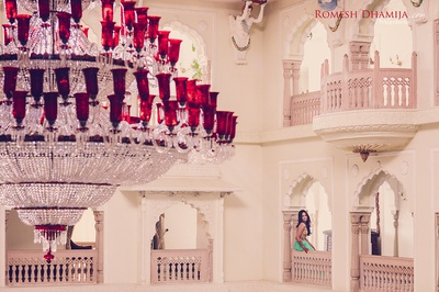Pre wedding shoot at Shiv Vilas Palace, Jaipur captured beautifully by Romesh Dhamija Productions.