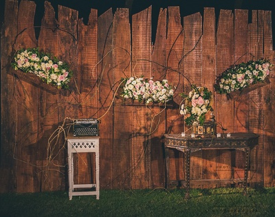 rustic decor ideas for the sangeet ceremony