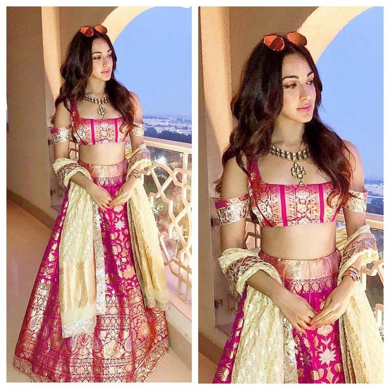 ef61071683 The Off-white and pop pink Banarasi lehenga: Designer - Manish Malhotra