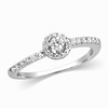 Satchel Solitaire Engagement Platinum Ring image