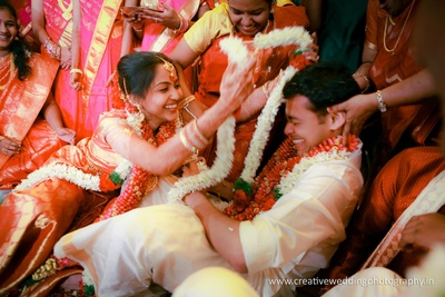 Exciting varmala ceremony!