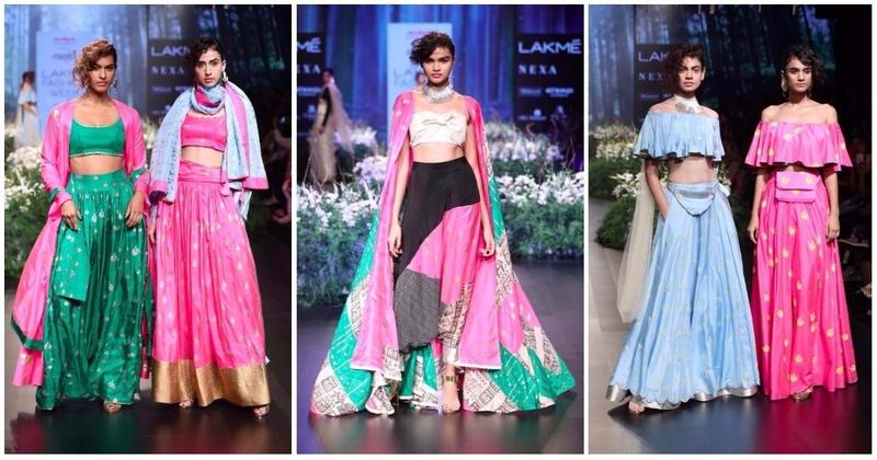 Masaba Gupta's Latest Lehengas Are Perfect For Quirky Bridesmaids – Lakme Fashion Week W/F 2017