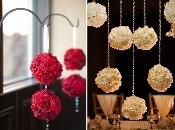 Red, White and Gold Wedding Decorations
