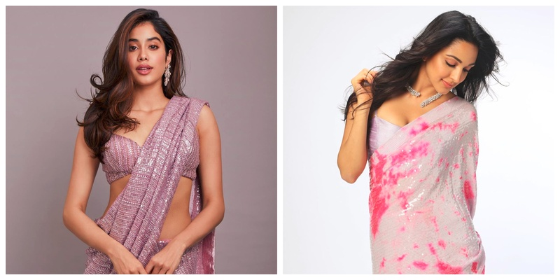 Bringing Back the Bling: 6 Sequins Sarees for Bridesmaids