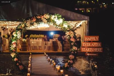 Floral decoration for wedding reception held at Westin Siray Bay Resort and Spa, Phuket.