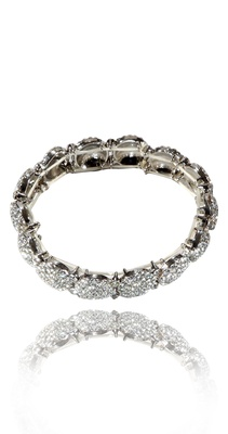Ti Couture Silver crystal expandable bracelet