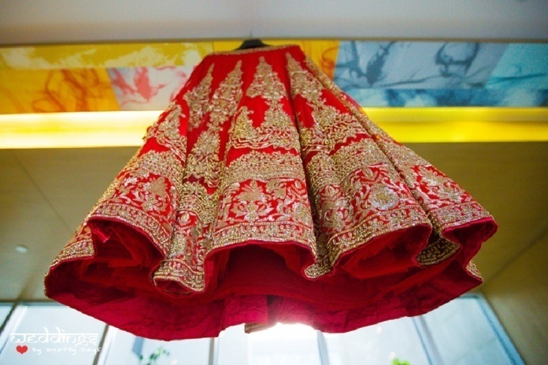 15. With a dramatic low-angle shot of the lehenga: