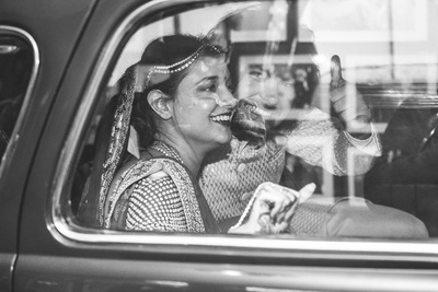 Black and white vidaai photography.