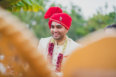 Groom captured in a candid shot