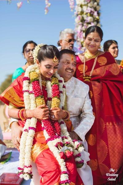Arushi's kanyadan in tamil style wedding