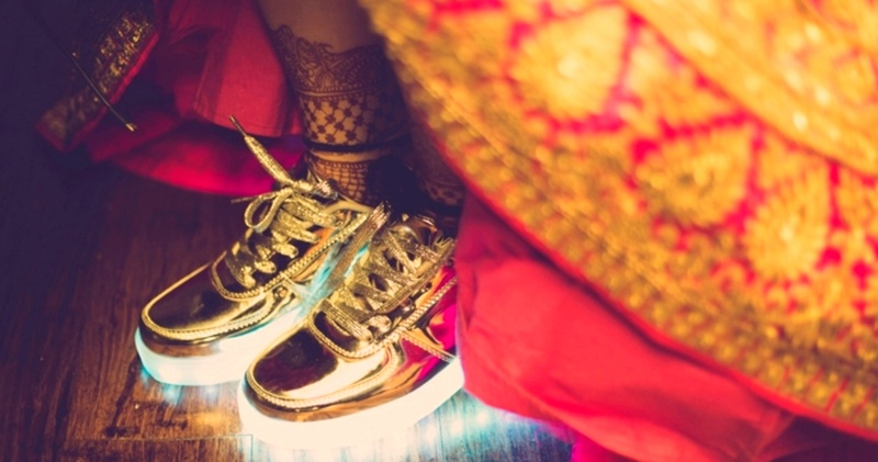 Real Brides who actually wore sneakers with their lehengas! #Bridegoals