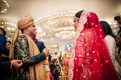 The varmala ceremony.