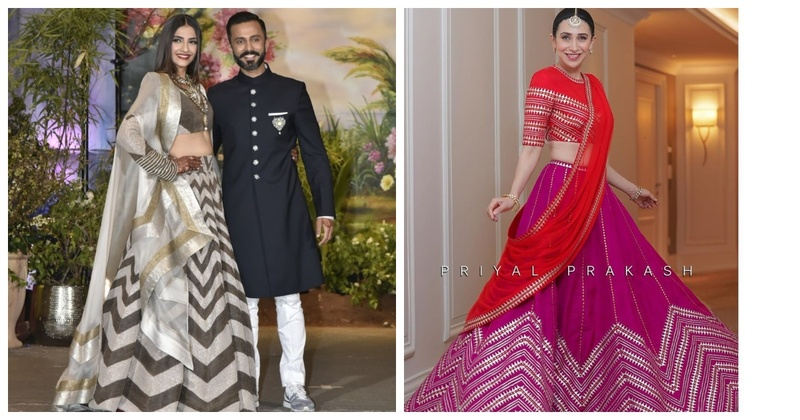 #Trending-Chevron Lehengas are Ruling the Bridal Game!
