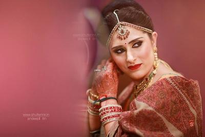Maathapatti studded with kundan and polki