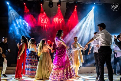 A whole lot of danicng, fun, and masti at the sangeet ceremony!