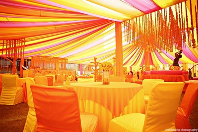 Colorful themed decor for Indian wedding ceremonies