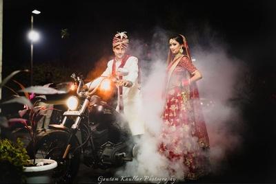 The stunner bold couple shoot by Gautam Khullar Photography.