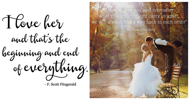 25 Interesting Wedding Quotes To Add To Your Invitation Card