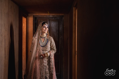 Ain looked like an absolute dream in her pastel pink Asiana Couture bridal ensemble for her Kashmiri Muslim wedding ceremony.